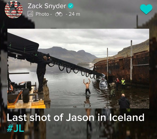 Zack Snyder shares behind-the-scenes look at Jason Momoa's Aquaman in Justice League