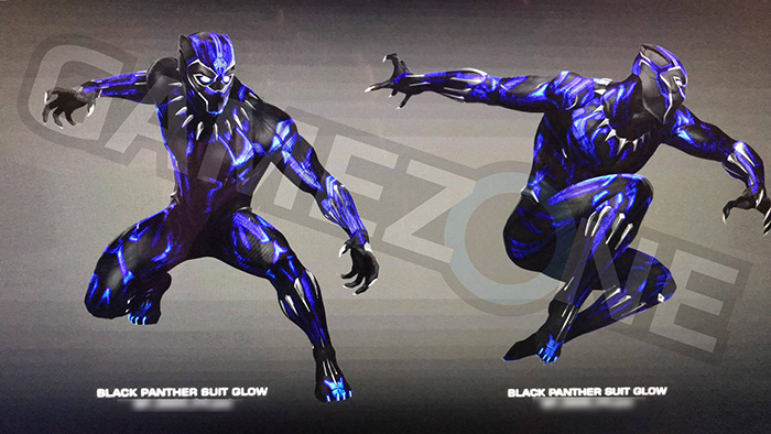 Black Panther Suit Glow