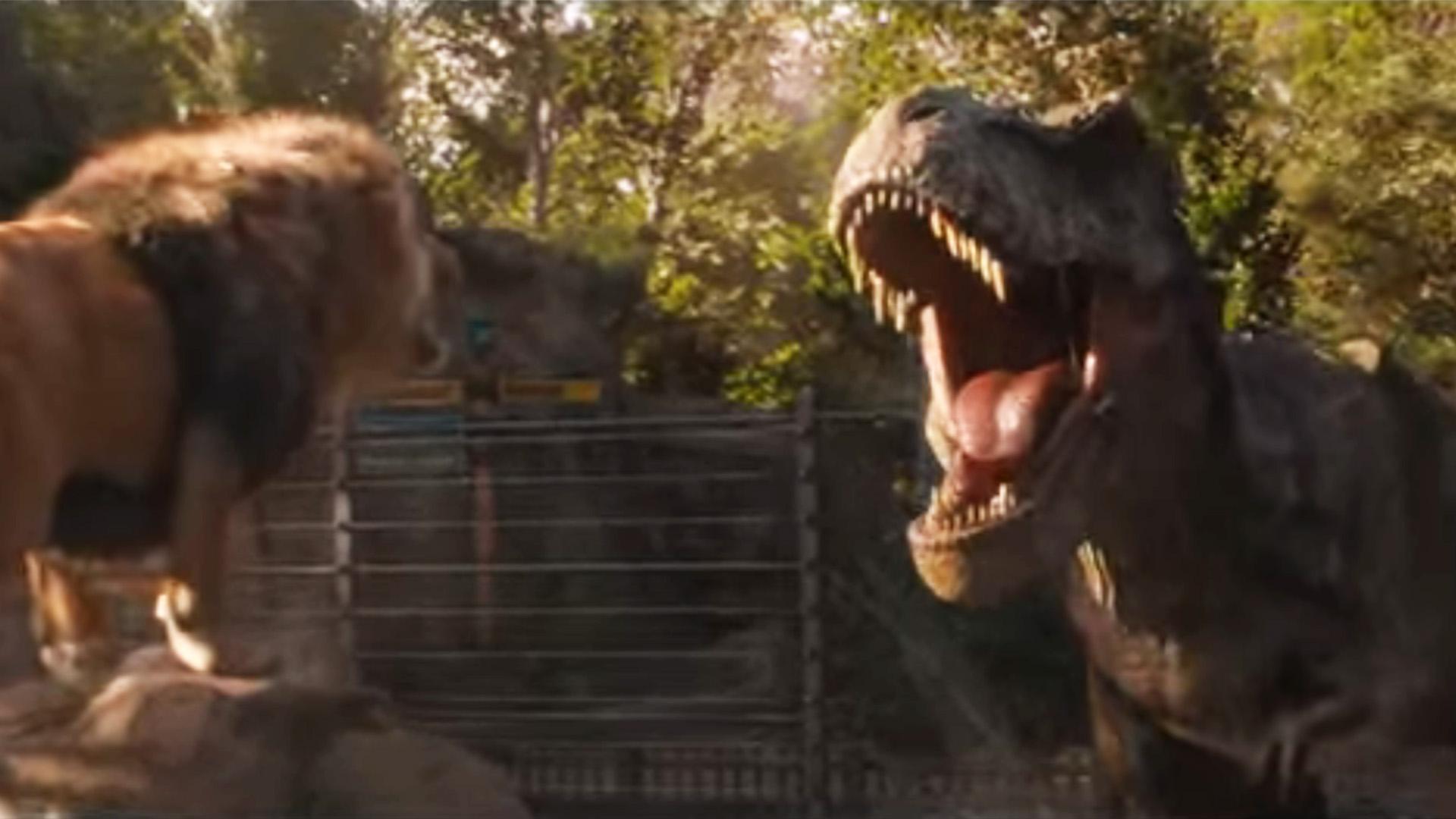 Its T Rex Vs Lion In New Jurassic World Fallen Kingdom Tv Spot